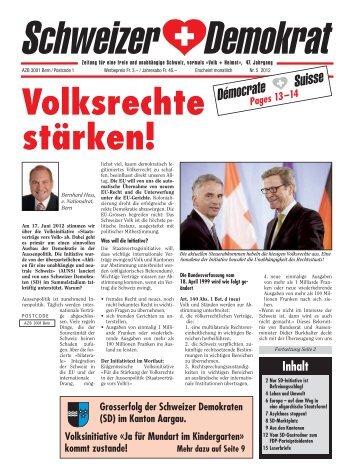 Volksrechte stärken! - Schweizer Demokraten SD