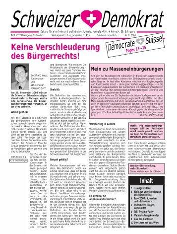 DémocrateSuisse - Schweizer Demokraten SD