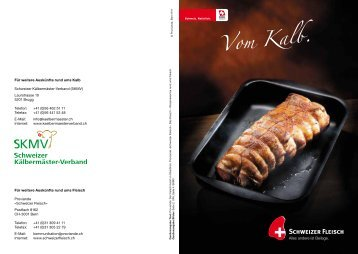 """Broschüre """"Vom Kalb"""" - Schweizer Fleisch"""