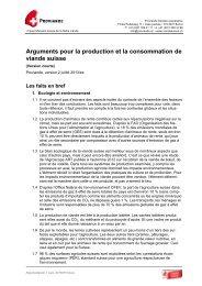 Argumentation - Schweizer Fleisch