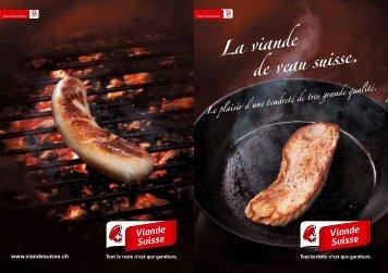"Brochure ""La viande de veau suisse"" - Schweizer Fleisch"