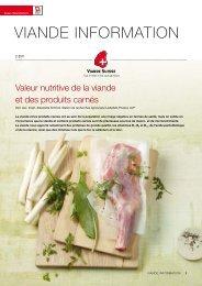 Valeurs nutritives de la viande et des produits ... - Schweizer Fleisch