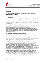 Faktenblatt - Schweizer Fleisch