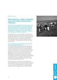 Klimaschutz - Schweizer Fleisch