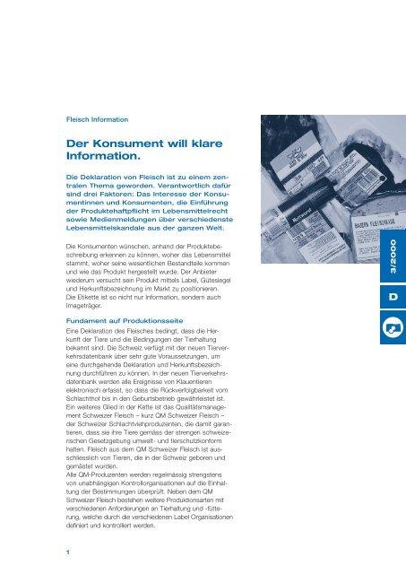 Fleisch Information - Schweizer Fleisch