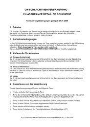 ch-schlachtviehversicherung ch assurance ... - Schweizer Fleisch
