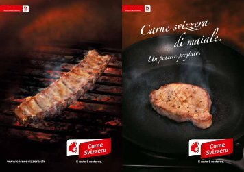 Carne svizzera di maiale. - Schweizer Fleisch