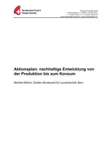 Referat - Schweizer Fleisch