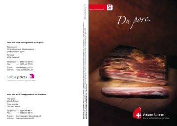 Du porc. - Schweizer Fleisch