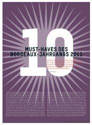 must-haves des bordeaux-jahrgangs 2011 - Schweizerische ...