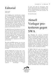 Verleger pro- testieren gegen SWA - Verband Schweizer Presse