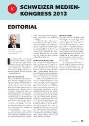 Kongressprogramm - Verband Schweizer Presse