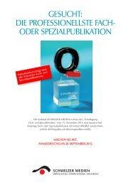 Q-AWARD Ausschreibung Online 2012 - Verband Schweizer Presse