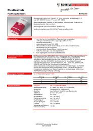 Technisches Merkblatt - SCHWENK Putztechnik GmbH & Co. KG