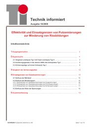 Technik informiert - SCHWENK Putztechnik GmbH & Co. KG