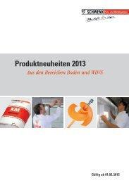 Produktneuheiten 2013 - SCHWENK Putztechnik GmbH & Co. KG