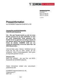 Pressemitteilung: Putz- und WDVS-Musterkoffer (.pdf) - SCHWENK ...