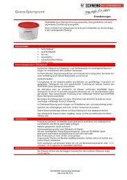 Quarz-Sperrgrund - SCHWENK Putztechnik GmbH & Co. KG