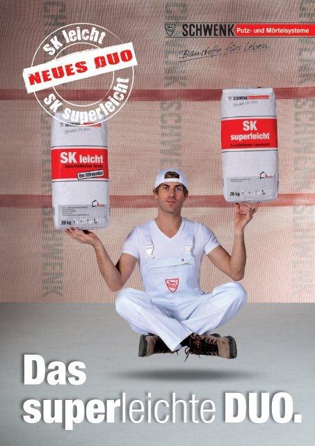 Das leichte DUO. - SCHWENK Putztechnik GmbH & Co. KG