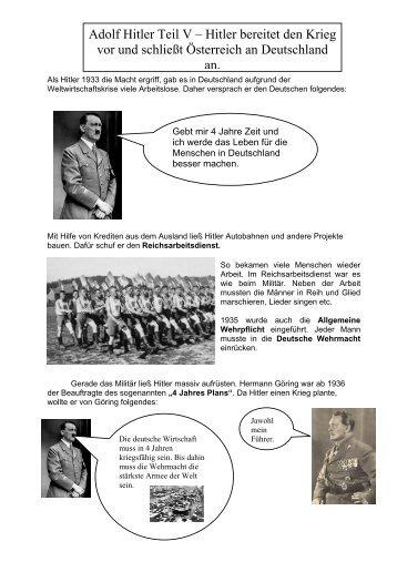 adolf hitler teil v hitler bereitet den krieg vor und schliet - Hitlers Lebenslauf
