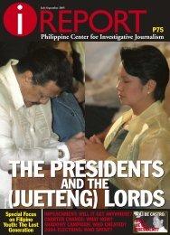 i Report Issue No. 3 2005 - Philippine Center for Investigative ...