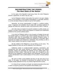 deconstructing the crisis - Philippine Center for Investigative ...