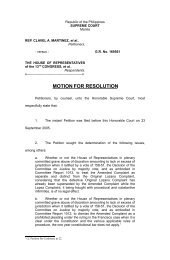 motion for resolution