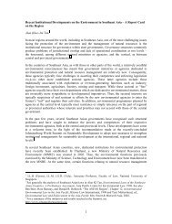 A Report Card on the Recent Institutional Developments on the ...