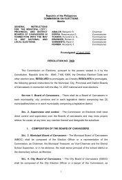 comelec resolution no. 7859 - Philippine Center for Investigative ...