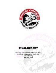 FINAL REPORT - Philippine Center for Investigative Journalism