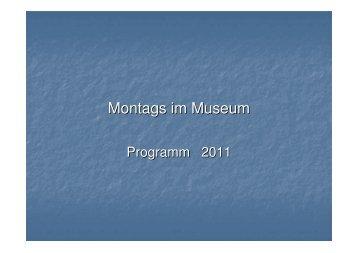 Montags im Museum
