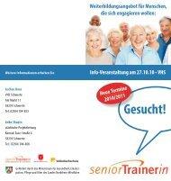 seniorTrainerin gesucht - Stadt Schwerte
