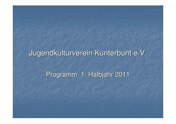 Programm 1. Halbjahr 2011