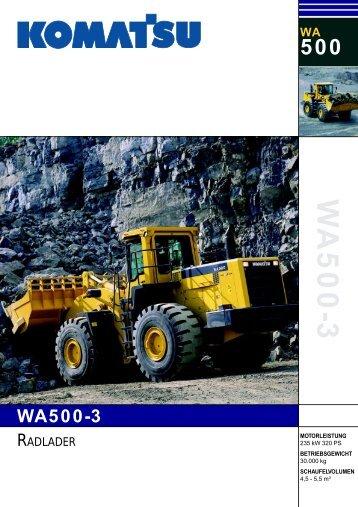 Komatsu WA 500-3
