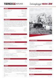1604 ZW Datenblatt 1.. - ATLAS Hydraulikbagger