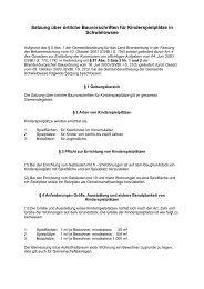 Satzung über örtliche Bauvorschriften für Kinderspielplätze in ...