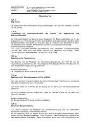 Niederschrift zur Sitzung Nr. 07/2004 am 15.12.04 - Gemeinde ...