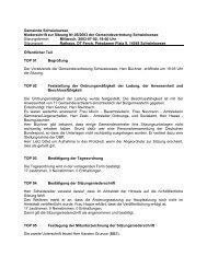 Niederschrift zur Sitzung Nr. 05/2003 am 02.07.03 - Gemeinde ...