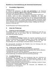 Vereinsförderung Gemeinde Schwielowsee
