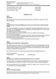 Frau Heide-Marie Ladner - SPD entschuldigt Herr Thomas Hartmann