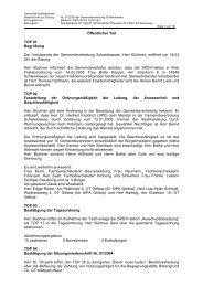 Niederschrift zur Sitzung Nr. 01/2005 am 23.02 - Gemeinde ...