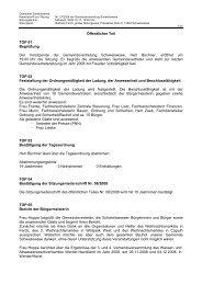 Niederschrift zur Sitzung Nr. 07/2008 am 17.12.08 - Gemeinde ...