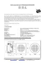 Bedienungsanleitung für Unterwasserscheinwerfer