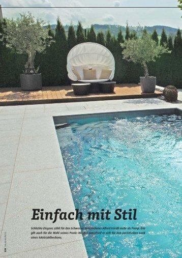 Einfach mit Stil - Schwimmbad-zu-Hause.de