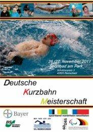 Protokoll DKM 2011 Remscheid - SCHWIMMTEAM POTSDAM