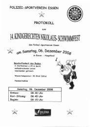 Protokoll Kindgerecht 2008 - Polizei-Sportverein Essen 1922 eV ...