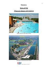 OSV-Bulletin 2013/2014 Masters - Landesschwimmverband Tirol