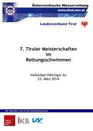 Tiroler Meisterschaften - Landesschwimmverband Tirol
