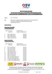 Ausschreibung - Schwimmen - OSV