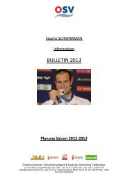 OSV-Bulletin 2013 - Landesschwimmverband Tirol